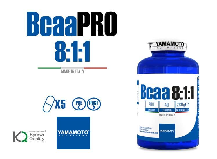 Bcaa 8.1.1 en gélule les acides aminés essentiels de Yamamoto Nutrition