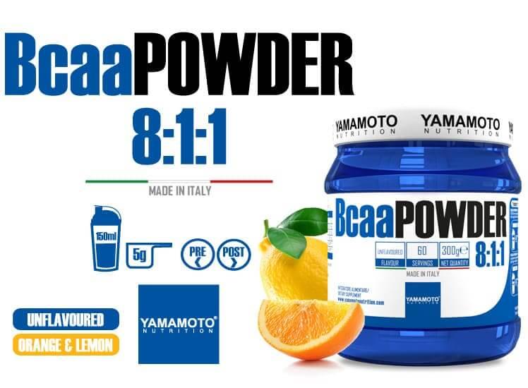 Bcaa 8.1.1 en poudre, les acides aminés essentiels de Yamamoto Nutrition