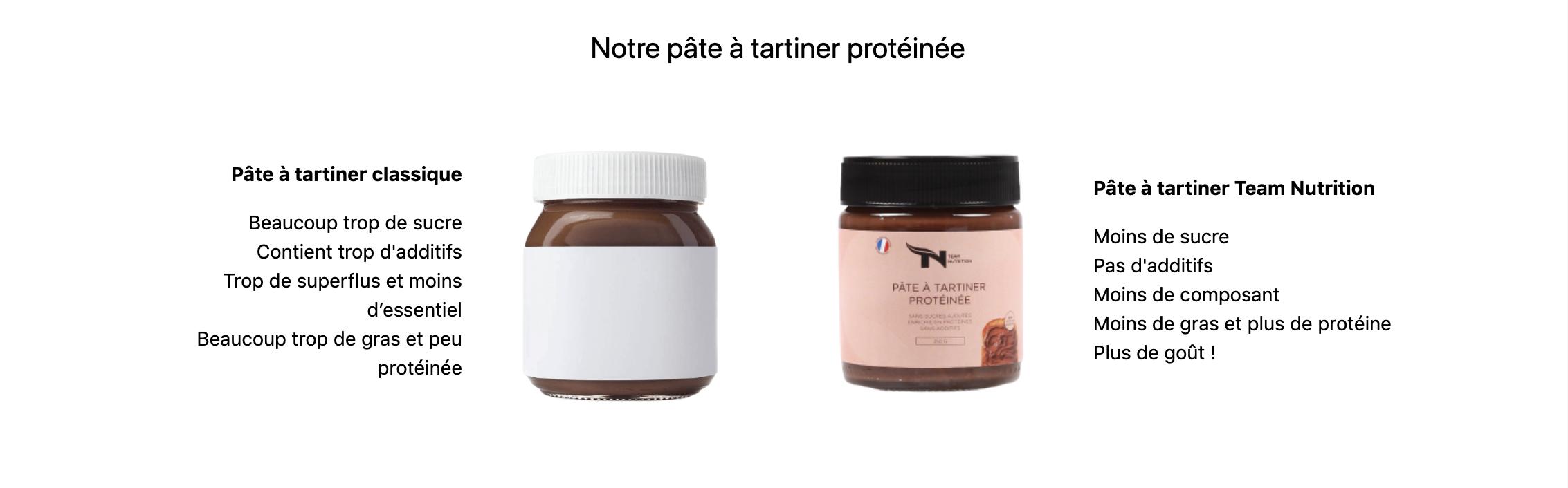 Pâte à tartiner protéinée